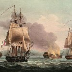 HMS Acasta (left) which also chased the Young Teazer. (Source: Wikipedia, image in public domain.)