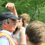Charles Barkhouse guiding our tour of Oak Island